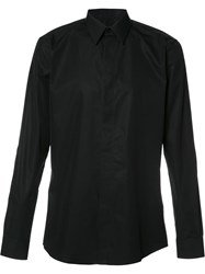 Givenchy Star Embroidered Formal Dress Shirt Black