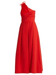 Preen Edie Asymmetric Gown Red
