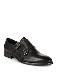 Bacco Bucci Cosmos Double Monk Strap Leather Shoes Black