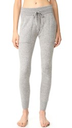 White Warren Essential Cashmere Pants Grey Heather