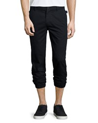 Helmut Lang Cotton Elastic Cuff Trousers Black