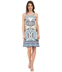 Hale Bob Butterfly Faux Halter Dress Gray Women's Dress