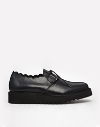 Ymc Leather Lace Up Flat Shoes Cloverclub