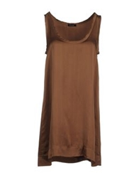 Drumohr Short Dresses Brown