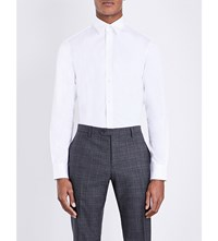 Gieves And Hawkes Tailored Fit Cotton Shirt White