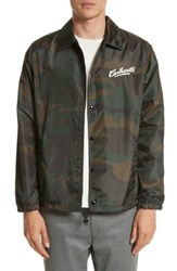 Carhartt Men's Work In Progress Camo Print Coach Jacket Camo Combat Green White