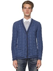 Gabriele Pasini Frosted Cotton Cable Knit Cardigan