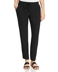 Eileen Fisher Petites Silk Ankle Pants Black