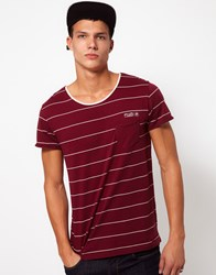 Fly 53 Fly53 Striped T Shirt Red