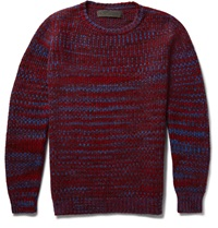 The Elder Statesman Malta Melange Cashmere Sweater Burgundy