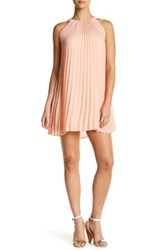 Want And Need Pleated Trapeze Dress Pink