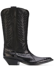 Sonora Leather Boots Women Leather Python Skin 40 Black
