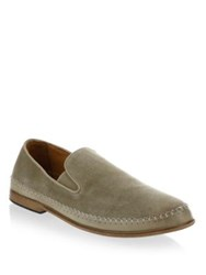 John Varvatos Amalfi Suede Loafers Light Brown Lead