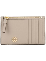 Tory Burch Robinson Slim Card Case Nude And Neutrals
