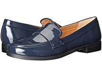 Franco Sarto Valera Navy Patent Women's Slip On Dress Shoes Blue