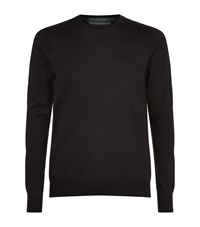 Burberry Cashmere Check Trim Jumper Male Black