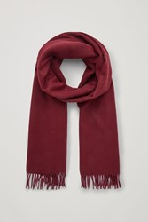 Cos Wool Cashmere Scarf Red