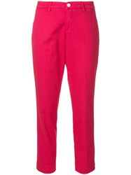Re Hash Cropped Tailored Trousers Pink And Purple