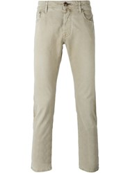 Jacob Cohen Straight Leg Jeans Nude And Neutrals