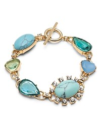 Carolee Multi Stone Bracelet Blue Gold