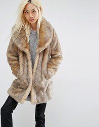 Unreal Fur Elixir Faux Coat Brown