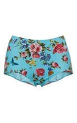 Dolce And Gabbana High Waisted Floral Bikini Bottom