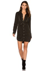 Hudson Jeans Peyton Military Shirt Dress Army