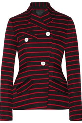 Proenza Schouler Striped Cotton And Wool Blend Jacquard Blazer Black