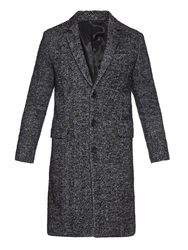 Ami Alexandre Mattiussi Herringbone Wool And Alpaca Blend Coat