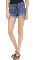 Vince Dylan Skinny Rolled Short Light Wrecked Wash