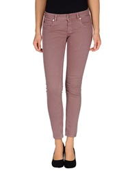 Maison Clochard Denim Pants Mauve