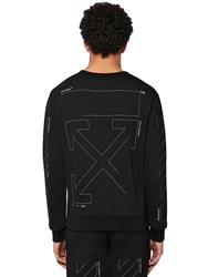 Off White Slim Unfinished Print Cotton Sweatshirt Array 0X575ba90