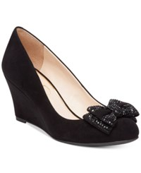 Jessica Simpson Selonia Embellished Bow Wedges Women's Shoes Black