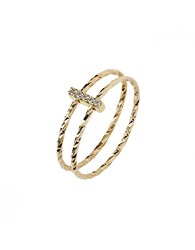 Maria Black Gish Ring Gold