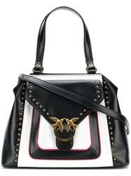 Pinko Two Tone Tote Black