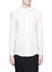 The Viridi Anne Mixed Weave Cotton Shirt White