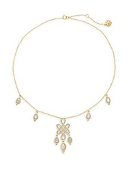 Freida Rothman Mother Of Pearl And 14K Gold Vermeil Love Knot Drops Necklace