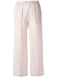 Aspesi Checked Trousers Nude Neutrals