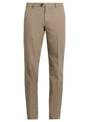 Brunello Cucinelli Casual Cotton Chino Trousers Brown