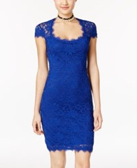 Jump Juniors' Cap Sleeve Lace Sheath Dress Royal
