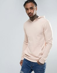 Asos Lightweight Muscle Hoodie In Pink Vintage Lace