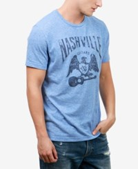 Lucky Brand Men's Nashville Eagle Graphic Print T Shirt Federal Blue