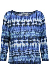 Kain Label Amelia Tie Dyed Stretch Modal Top Blue