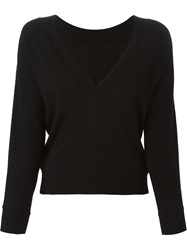 Erika Cavallini Semi Couture 'Wido' Sweater Black