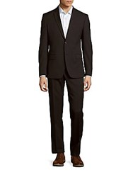 Versace Woolen Pinstripe Jacket And Pants Set Grey