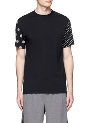 Icny 'Multi Dot' Reflective Print T Shirt Black