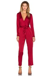 Wyldr Sophie Jumpsuit Red