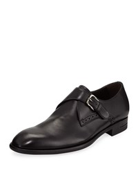 Ermenegildo Zegna New Flex Monk Strap Shoes Black