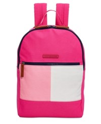Tommy Hilfiger Flag Colorblock Backpack Fuchsia
