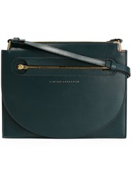 Victoria Beckham Small Flat Crossbody Bag Blue